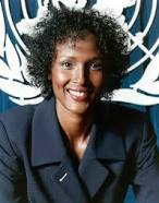 Waris Dirie, victim of FGM struggled hard to rotate her life to 360deg and now, a celebrity.